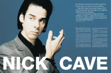 »I am a funny guy« –Nick Cave pratar